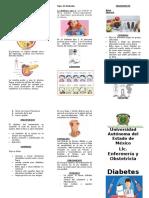 Triptico Diabetes Mellitus