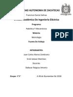 Reporte de Metrologia