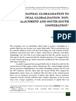 Colonial Globalization to Post Colonial Globalization