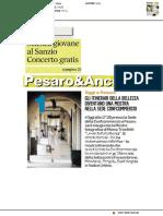 Al Teatro Sanzio concerto gratuito di musica classica - Il Corriere Adriatico del 5 dicembre 2018