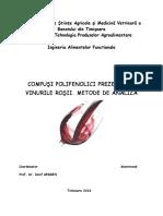 Compusi Polifenolici Prezenti in Vinurile Rosii - Metode de Analiza