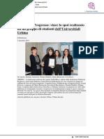 Pubblicità Progresso, vince lo spot realizzato dagli studenti di Urbino - Pu24.it, 5 dicembre 2018