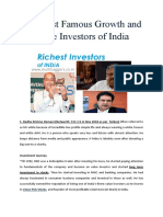 Top Most Famous Growth and Value Investors of India