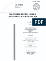 Time-Dependent Prestress Losses in pretensioned concrete construction
