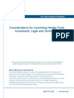 Considerations for Launching a Hedge Fund Whitepaper