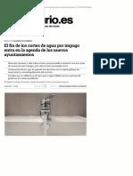 El fin de los cortes de agua por impago entra en la agenda de los nuevos ayuntamientos (eldiario.es, 05-06-15)