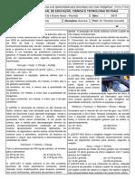 Lista de Revisão 1 Estequiometria e Gases Ideais RMZ