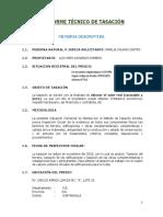 5° INFORME TECNICO DE TASACION renovado