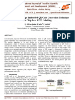 A Novel Colour Image Embedded QR Code Generation Technique for Chip-Less RFID Labelling