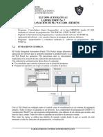 Elt 3890 Automatica i Laboratorio No. 7 Programación de Plc s s7-1200 Siemens