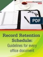 Record Retention Schedule