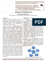 Digitalization in Banking Sector