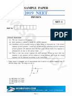 NEET 2019 Physics Sample Question Paper