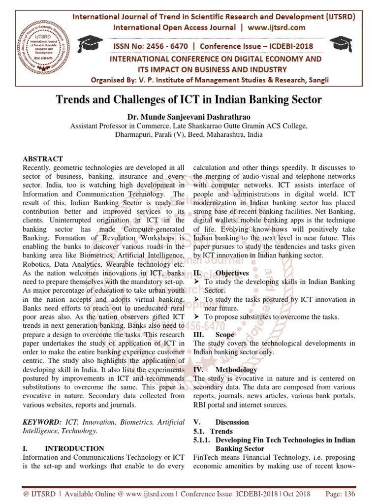 Trends and Challenges of ICT in Indian Banking Sector | Analytics