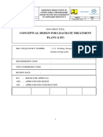 Conceptual Design for Leachate Treatment Plant (LTP)