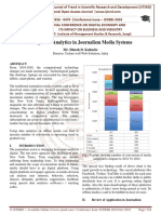 Using Data Analytics in Journalism Media Systems