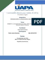 Unidad X-La Universidad Abierta Para Adulto- UAPA- Una Experiencia en Educación Superior a Distancia