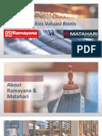 Final Analisis Valuasi Bisnis Ramayana-Matahari