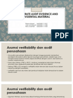 Corporate Audit Evidence and Evidential Material