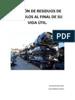 Gestión de Residuos de Vehículos Al Final de Su Vida Útil