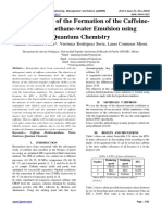 Demonstration of the Formation of the Caffeine-Dichloromethane-water Emulsion using Quantum Chemistry