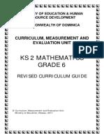 Mathematics Curriculum Guide Grade 6