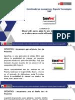 Interfaz de Usuario de OpenProj