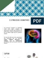 2.3 Procesamiento Cognitivo