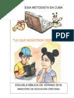 """Escuela Bíblica de Verano """"Lo que Nosotros Creemos"""""""