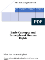 Basic Concepts and Principles of Human Rights