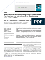 Acupuncture for Treating Temporomandibular Joint Disorders (Systematic Review and Meta-Analysis of Randomized)