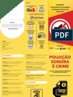Folder Seminário Poluição Sonora