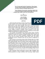 Hubungan Antara Karakteristik Individu Pengetahuan Sikap Dengan Tindakan Masyarakat Dalam Pencegahan Demam Berdarah Dengue Di Wilayah Kerja Puskesmas Kolongan Minahasa Utara