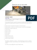 OHSAS 18001 Elaboración de Una Matriz IPER