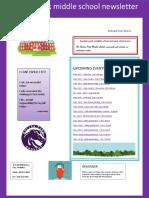 boulan park middle school newsletter