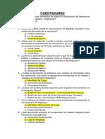 Cuestionario de Procedimiento de Transito Aduanero