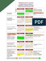 Calendario Académico 2018 2019 HCU Reformado UTN