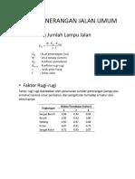 perhitungan PJU