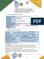 3 Guía de actividades y rúbrica de evaluación - Paso 3 -Enfoque de Aplicación al Problema