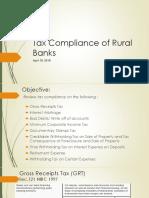 TAx COmpliance Banks