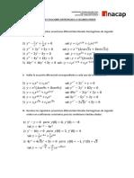 Guia de Ecuaciones Diferenciales a Segundo Grado