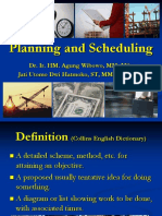 1. Planning and Scheduling - Bar Chart