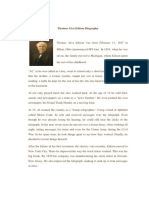 Thomas Alva Edison Biography