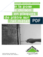Réussir La Pose d Une Cloison en Plaques de Plâtre Sur Rail Métallique