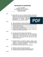 Cronograma de Hardware Matriz