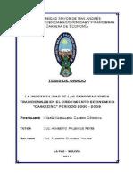 INESTABILIDAD DE LAS EXPORTACIONES DEL ZINC