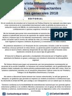 Boletín informativo Carlos Valero Diciembre 2018