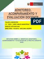 MONITOREO, ACOMPAÑAMIENTO Y EVALUACION DOCENTE.pptx