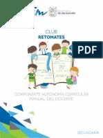 Retomates Cuadernillo Docente Sec