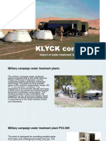 KLYCK Company Presentation of Water Treatment Technologies